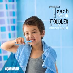 #ToddlerTip: Get a soft bristles toothbrush with a small head that will easily fit in your toddler's hand.