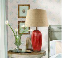 169.00  JL061 red base table lamp ceramic table lamp