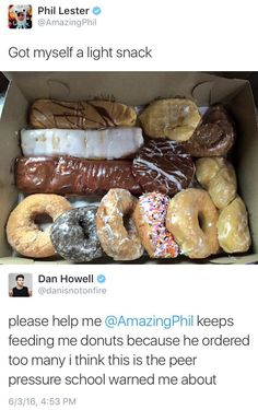 "I'm worried because I saw these doughnuts on my feed when I first got on here and immediately, i thought ""oh those look like phils doughnuts"""