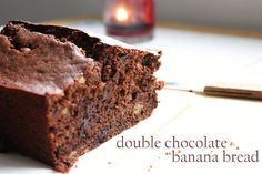 Double Chocolate Whole Wheat Banana Bread