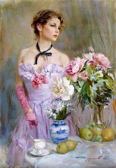 Painting by Konstantin Razumov a Russian impressionist artist.