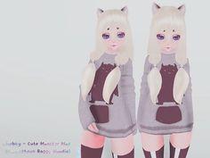 cHubby- Cute Monster Hoodie (Mod for Krankhaus Kemono Baggy Hoodie)