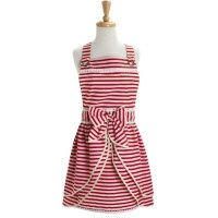 Sur la Table red and white stripe apron with pretty front detail and bow.  I have to have this, it's super cute.  How could you not feel fancy while you're cooking in an apron like this?!