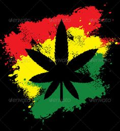 Buy Marijuana Rastafarian Grunge by danielfela on GraphicRiver. Marijuana Rastafarian Grunge - Vector illustration, only simply linear gradients used - No blends, gradient mesh used. Bob Marley Painting, Bob Marley Art, Reggae Art, Reggae Style, Marijuana Art, Marijuana Plants, Cannabis, Grunge, Rasta Art