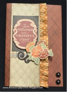 card by Krista Hershberger using CTMH Huntington paper