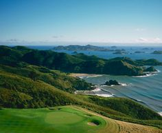 New Zealand's Kauri Cliffs was designed and built by David Harman of Golf Course Consultants, Orlando, Florida. The par 72 championship golf course measures 7,119 yards / 6,510 metres and offers five sets of tees to challenge every skill level. Fifteen holes view the Pacific Ocean, six of which are played alongside cliffs which plunge to the sea. The beautiful inland holes wind through marsh, forest and farmland. #worldsbesthotels2014