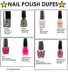 ♥ModestlyBeauty♥: Nail Polish Dupes #3 Nail Polish Dupes, Nail Lacquer, Nail Polish Storage, Skincare Dupes, Beauty Dupes, Beauty Makeup, Hair Beauty, Revlon, Lip Tips