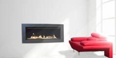 Linear widescreen fireplace - Savannah-p55