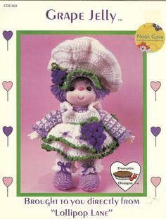Vintage Grape Jelly Doll a Dumplin Design by Lollipop by NookCove, $5.99