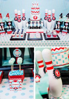 Retro Bowling Party with a modern twist. via Hostess with the Mostess