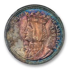ISABELLA 1893 Silver Commemorative NGC MS67 #LSRC #PCGS #Comemm #ISABELLA