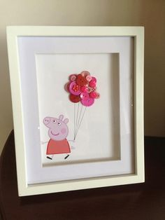 Peppa Pig button art by Countrybuttons1 on Etsy