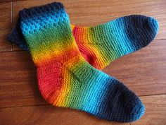 Cozy Crochet Sock pattern by Karen Ratto-Whooley ~ free
