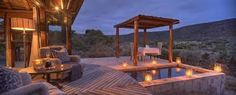 Great Fish River Lodge on Kwandwe Private Game Reserve is the premier Eastern Cape safari experience; Port Elizabeth South Africa, Game Reserve South Africa, African Interior, Game Lodge, River Lodge, Private Games, Holiday Places, Plunge Pool, Lodges