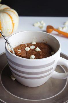 White Chocolate Pumpkin Mug Cake