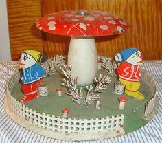 Antique Figural German Christmas Tree Stand Vintage Ornament Putz Old Vintage   eBay