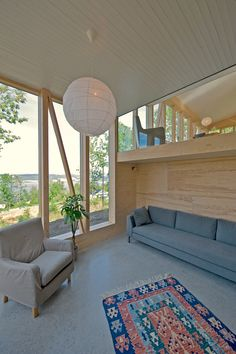 Farm House / JVA - glass to different levels of house.