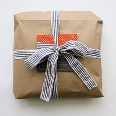 brown paper bag, fabric scraps ribbon, quilted notecard-- (dana-made-it.com, made, made blog, dana made it, dana willard)