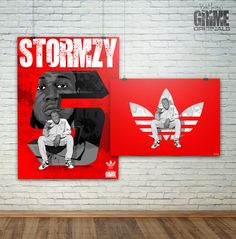 Stormzy Poster for Adidas. 2016