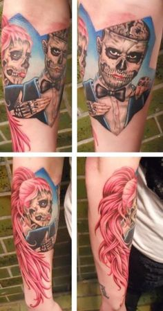 Rick Genest and Lady Gaga tattoo. Wouldn't get this necessarily, but love the Gaga tribute :)