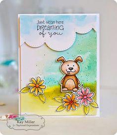 TE Blog Design Team: Dreaming of You Card by Kay Miller #Cardmaking, #JustBecause, #Watercolr, #Spring, #BlogTeam, #TE, #ShareJoy