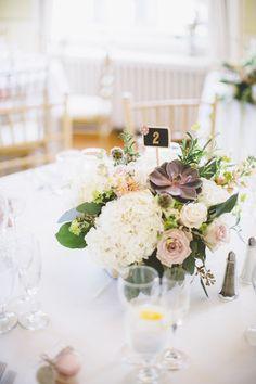 Wedding Centerpiece with Succulents Succulent Centerpieces, Floral Centerpieces, Wedding Centerpieces, Wedding Decorations, Wedding Reception Flowers, Wedding Flower Arrangements, Floral Wedding, Wedding Venues, Romantic Table Setting