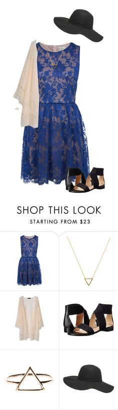 """""""Lace & Triangles"""" by joelleduffin ❤ liked on Polyvore featuring Miss Selfridge, Wanderlust + Co, Nine West, Dorothy Perkins, women's clothing, women, female, woman, misses and juniors"""