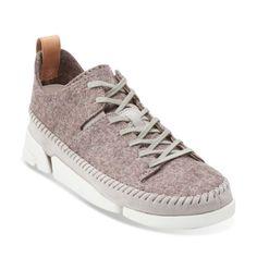 Trigenic Wool. Grey Felt - Clarks Womens Shoes - Womens Heels and Flats - Clarks - Clarks® Shoes