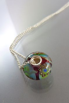 Hand Blown Glass Charm | Created By Melanie Moertel | Each Is A One-Of-A-Kind | Available On Etsy https://www.etsy.com/shop/melaniemoertel?section_id=14298796&ref=shopsection_leftnav_4