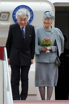 The Emperor and Empress of Japan leave for London to celebrate Queen Elizabeth II Jubilee.