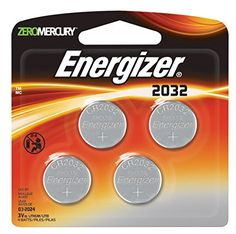 awesome Energizer 2032BP-4 3 Volt Lithium Coin Battery - Retail Packaging (Pack of 4)