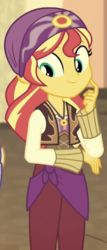 Size: 347x808 | Tagged: cropped, equestria girls, india movie set, movie magic, safe, screencap, solo, spoiler:eqg specials, sunset shimmer, sunshim