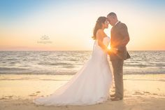 Treasure island sunset beach wedding photography by Katogenic Photography