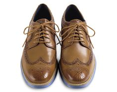 Cole Haan Lunargrand Long Wingtip   Camello/Chambray