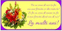 Felicitari de la multi ani cu buchete de flori - La multi ani! Tableware, Dinnerware, Tablewares, Dishes, Place Settings