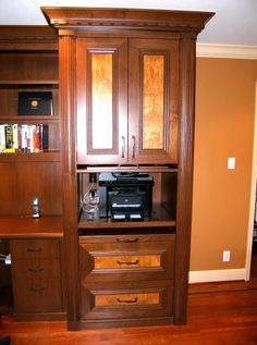 Built-in desk with cabinet