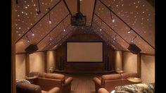 Salle de ciné dans une maison