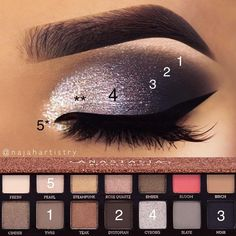 Makeup Products Eyeshadow Cosmetics Ideas Make-up Produkte Lidschatten Kosmetik Ideen Makeup Eye Looks, Eye Makeup Steps, Smokey Eye Makeup, Eyeshadow Makeup, Yellow Eyeshadow, Eyeshadow Palette, Sultry Makeup, Glitter Eyeshadow, Makeup Palette