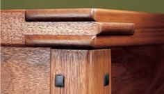 GREENE AND GREENE FURNITURE DETAILING.  EXPOSED JOINTS, PILLOWING, ETC..