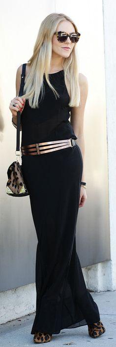 Dress Alexander Wang, shoes Schutz, belt Urban Outfitters, bag Alexander Wang, sunglasses Karen Walker.
