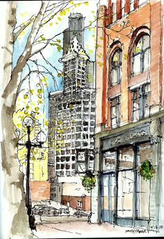 Urban Sketchers Seattle #sketch #watercolor