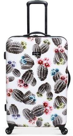 Carry-On Closet – Suitcase with built in shelves – Best Fashion Advice of All Time Cute Suitcases, Hardside Luggage, Spinner Suitcase, Cactus Print, Cute Bags, Mens Gift Sets, Baby Clothes Shops, Baby Shop, Pumps Heels
