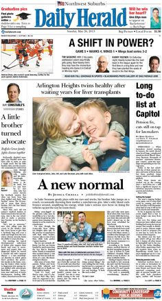 Daily Herald front page, May 26, 2013; browse our e-edition at http://eedition.dailyherald.com/