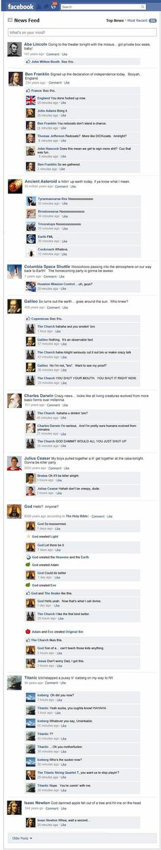 If history had a Facebook account #LOL