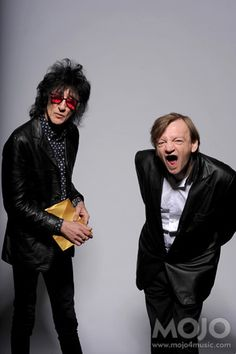 fuckyeahthefall: John Cooper Clarke MES @ Mojo mag awards, 2009 Case ya didn't know, this is Mark E. Smith today, on the right. Showing off the hole where his teeth used to be. The Fall Band, The Fall Guy, Music Like, Music Is Life, My Music, Mark E Smith, John Cooper Clarke, 80 Bands, Ian Curtis