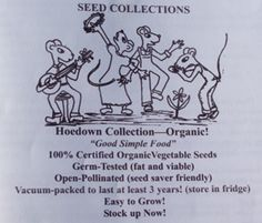 Hoedown Seed Collection, Organic