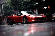 Ferrari 458 Chrome Red SR Autogroup #carwrap