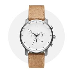 Mvmt Chrono White Caramel 24 Hour Clock, Mvmt Watches, Chronograph, Caramel, Crystals, Leather, Accessories, Toffee, Crystal