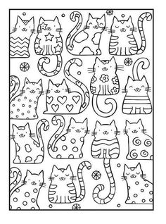 Adult Coloring Pages Cat from Animal Coloring Pages category. Printable coloring pictures for kids that you could print out and color. Have a look at our collection and printing the coloring pictures free of charge. Cat Coloring Page, Coloring Book Pages, Free Coloring Sheets, Kids Coloring, Colouring In, Colouring Pages For Kids, Cat Quilt, Cat Crafts, Printable Coloring