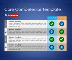 Free Core Competence PowerPoint Template is a free slide design for Microsoft PowerPoint that you can download to make business presentations using unique illustrations #competences #powerpoint #table